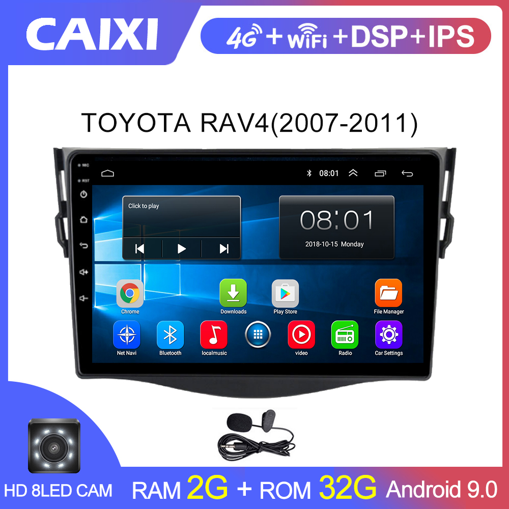 CAIXI Android 8.1  2din Car  Multimedia  Player For  Toyota RAV4 Rav 4 2007 2008 2009 2010 2011 Car Radio  DVD Wifi Player