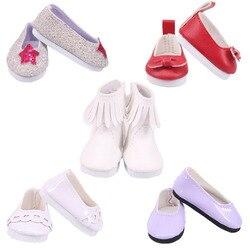 Sapatos de boneca 5 cm sapatos de lona de couro melhor doce presente para 14.5 Polegada nancy wellie wisher para nossa geração presentes de brinquedo da menina do bebê