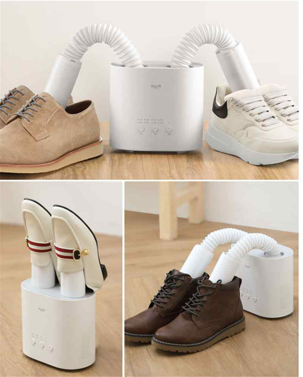 Delma intelligent multi-function telescopic disinfection U-type drying shoes New