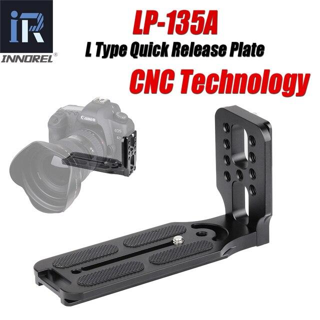 INNOREL LP 135A מקצועי L סוג שחרור מהיר צלחת סוגר עבור חצובה Ballhead עם Arca שוויצרי תקן DSLR מצלמות