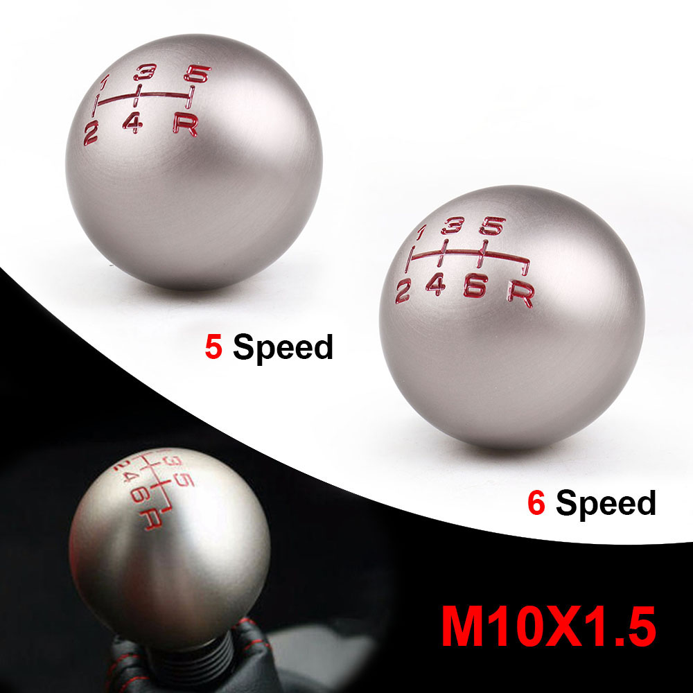 Aluminum 5/6 Speed JDM Ball Shape Shift Gear Knob M10*1.5 For Honda Fit Civic City FD2 FN2 EP3 TYPE R DC2 DC5 AP1 AP2 S2000 F20C