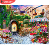 HUACAN DIY Painting By Numbers Landscape Hand Painted Paintings Drawing On Canvas Gift Pictures By Number Flower Kits Home Decor