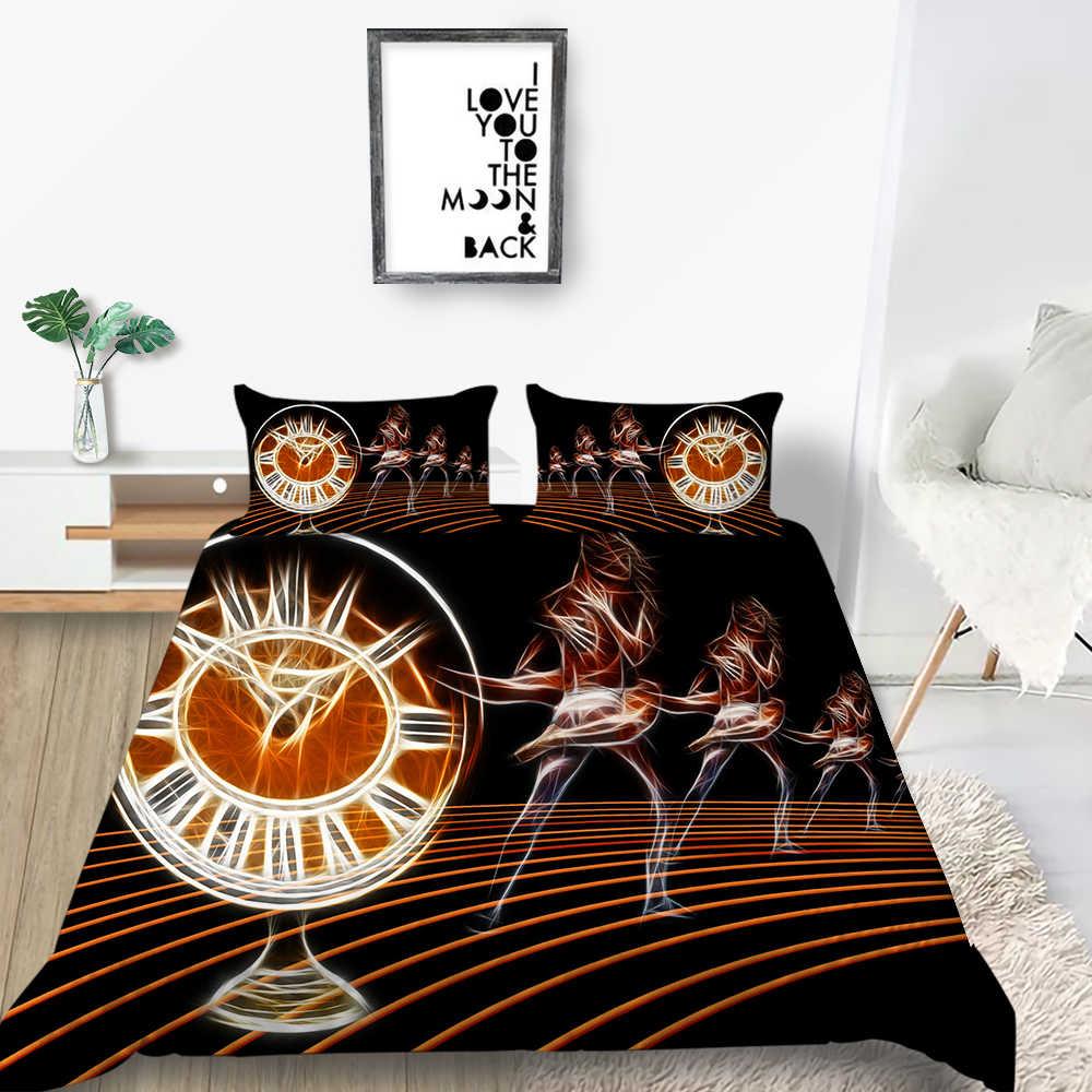 Künstlerische Bettwäsche Set Ballett Tänzer Elegante Romantische Bettbezug Lila Königin König Twin Voll Einzigen Doppel Einzigartige Design Bett Set
