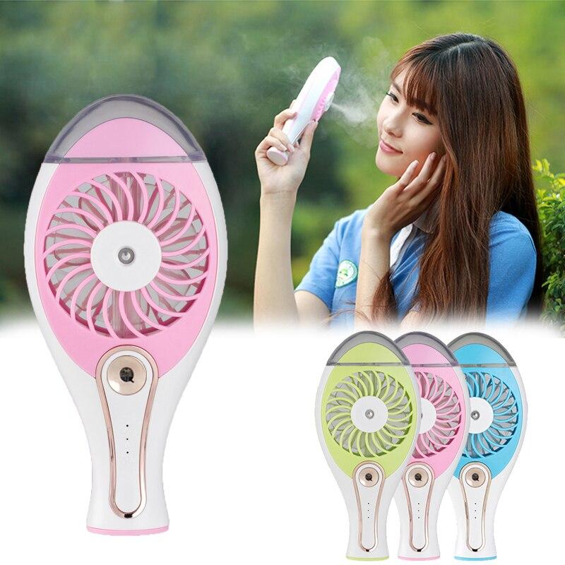 Portable USB Fan Cooler Mini Handy Cooling Beauty Spray Fan Desk Pocket Water Mist Fan Cooling Air Conditioning Humidifier Fan(China)