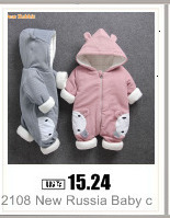 H9e29721f7abb41b4863121b36cefb34eE 2019 New Russia Baby costume rompers Clothes cold Winter Boy Girl Garment Thicken Warm Comfortable Pure Cotton coat jacket kids
