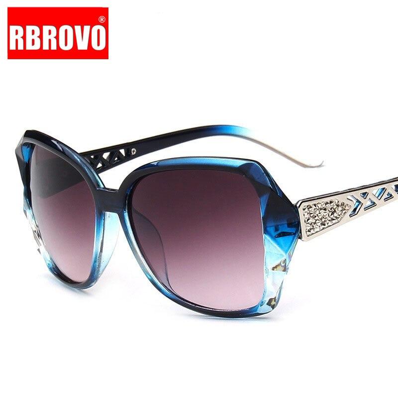 RBROVO 2018 Vintage Gradient Lens Sunglasses Women Brand Designer Driving Big Frame Sun Glasses UV400 Oculos De Sol Feminino