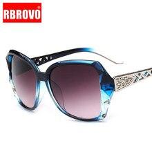 RBROVO-gafas De Sol Vintage para mujer, lentes degradadas De marca De diseñador para conducir con marco grande, UV400, 2021