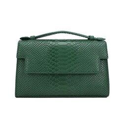 Novo 2020 moda monograma bolsa feminina padrão python bolsa de embreagem de couro das senhoras bolsa de couro de cobra bolsa de ombro corrente