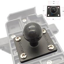 JINSERTA Aluminium Vierkante Montage Base w/1 inch (25mm) bubber Ball Compatibel voor Ram Mounts voor Gorpo Camera, voor DSLR,