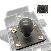JINSERTA Aluminum Square Mounting Base w/ 1 inch ( 25mm ) Bubber Ball Compatible for Ram Mounts for Gorpo Camera, for DSLR,