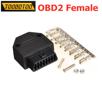 OBD2 16Pin Connector Female OBD Plug Shell Accessories OBD2 Female Adapter With Enclosure OBD2 Connector Car Diagnostic Tool image