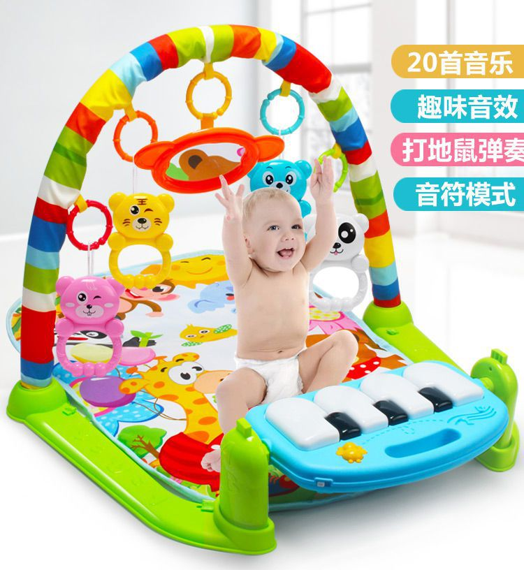 Baby Play Music Mat Carpet Toys Kid Crawling Mat Develop Intelligence With Piano Keyboard Infant Rug Early Education Rack Toy