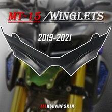 NEUE Motorrad ABS carbon fiber Zubehör Front Verkleidung Aerodynamische Winglets Untere Abdeckung YAMAHA MT 15 2019 2021 MT15 mt 15