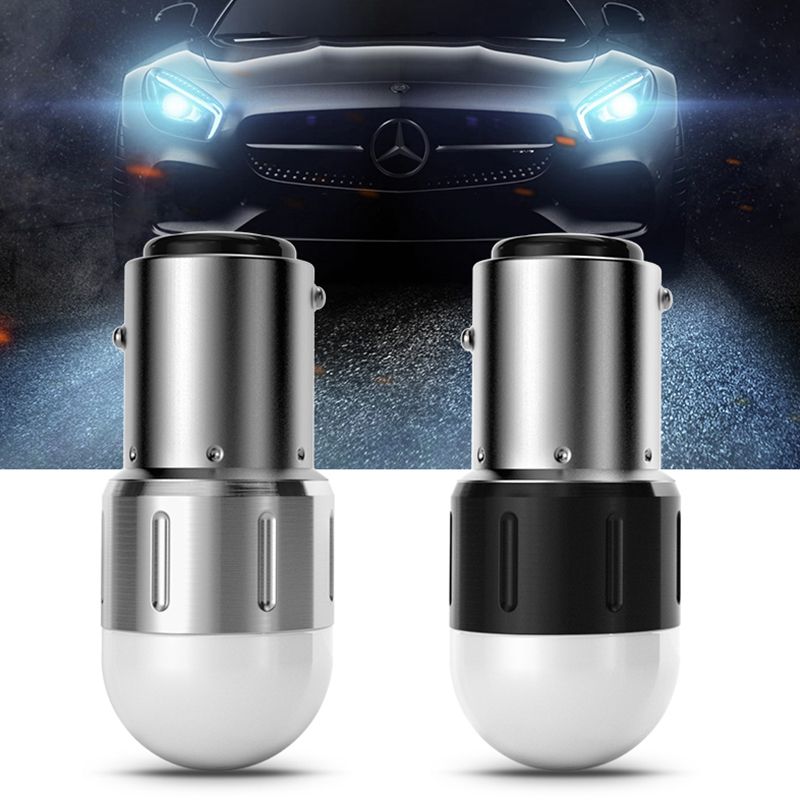 2X BAY15D P21/5W 1157 12V Red/White Car <font><b>DRL</b></font> <font><b>LED</b></font> <font><b>Turn</b></font> <font><b>Signal</b></font> Lights Bulbs For VW <font><b>Passat</b></font> B5 <font><b>B6</b></font> Polo Golf 4 5 Chevrolet Cruze Lada  image