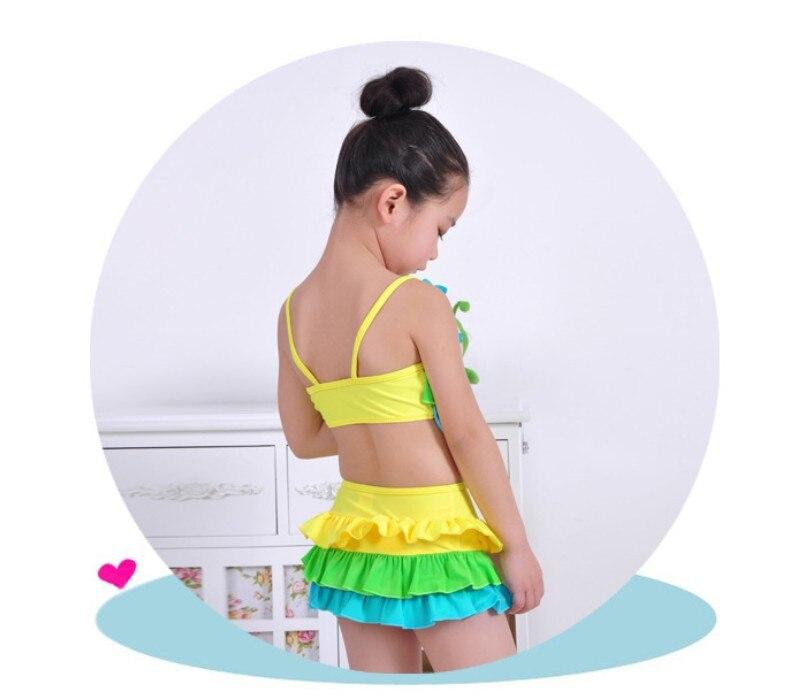 Sea Bbot Children Cute 3-15-Year-Old Girls Split Type Bikini Swimsuit GIRL'S Big Kid Baby Swimwear