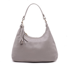 Tassel Bag Hobos New Fashion Women Bag 2017 Lady Handbag Genuine Leather Shoulder Bag Package Soft Totes Bag For Women цены онлайн