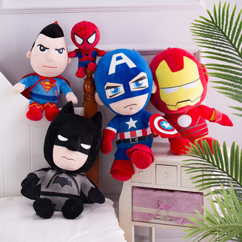 цена Marvel Avengers Soft Stuffed Super Hero Captain America Iron Man Spiderman Plush Toys Movie Dolls for Kid Birthday Gift онлайн в 2017 году