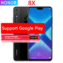 Honor 8X мобильный телефон 6,5 дюймов экран 3750 мАч батарея Android 8,2 двойная задняя камера 20 МП многоязычный смартфон