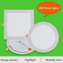 Светодиодный панельный светильник 30 Вт круглая квадратная ультратонкая