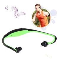 Auriculares deportivos sin tarjeta, cascos deportivos con reproductor de música MP3, SD, TF, fuente de alimentación USB, batería de litio (verde)