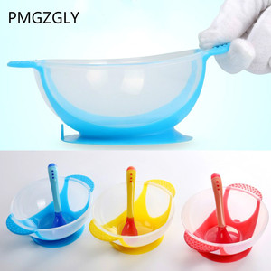 Learning Dishes Service Plate/Tray Suction Cup Baby Dinnerware Set Temperature Sensing Feeding Spoon Child Tableware Food Bowl(China)