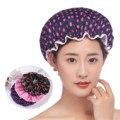 Водонепроницаемая шапка для душа, 3 шт., Высококачественная эластичная плотная шапка для парикмахерской для женщин, Товары для ванной комна...