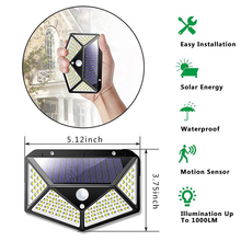 8W Outdoor Solar Powered LED Wall Lamp Porch Lights Night Sensor Control PIR Motion Sensor Solar Lamp Path Fence Garden Lamp 10w pir motion sensor led spot lighting solar powered panel outdoor garden path wall lights flood led emergency lamp luminaria