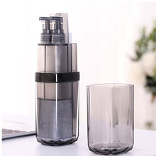 bathroom accessories Toothbrush toothpast Holder PP Portable Gargle Cups Business For Travelling Liquid Soap Dispenser Set