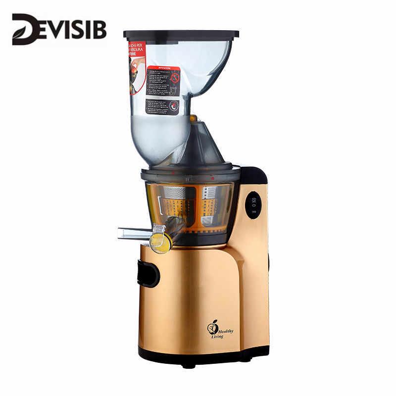 Devisib Juicer Lambat Masticating Juicer Extractor, Press Juicer Mesin, Motor Yang Tenang dan Reverse Fungsi