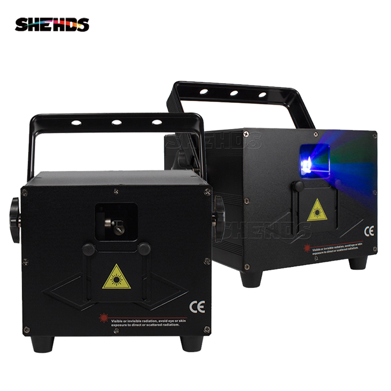 3W Full Color RGB  Animation Laser Light 30 Kpps Reflection DMX512 Profession DJ Disco Concert Stage Effect Light SHEHDS