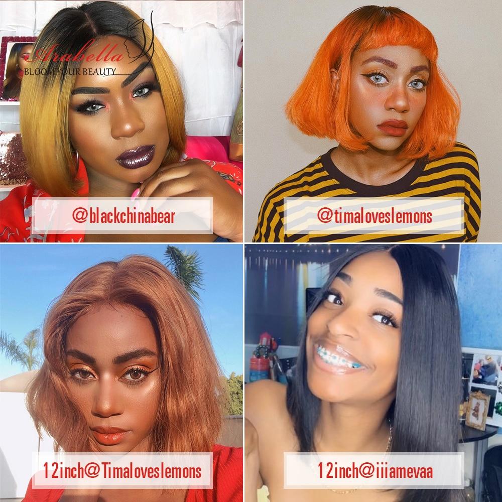 Bob Wig  Straight Virgin Hair Closure Wig 100%  Wigs Arabella 4*4 Lace Closure Glueless Lace Wigs 3
