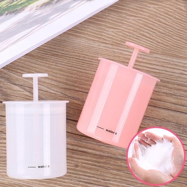 1 pieza de espuma portátil fabricante de espuma limpiador de cara baño champú espuma fabricante de viaje taza de hogar espuma Color rosa