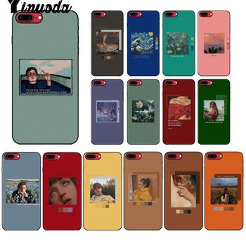 Yinuoda Picture-in-picture art palette Silicone Phone Case Cover for Apple iPhone 8 7 6 6S Plus X XS MAX 5 5S SE XR Cellphones image