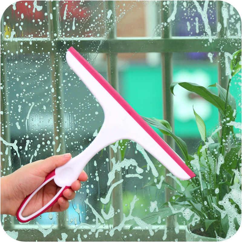 Limpiador de escobillas para ventana de limpiaparabrisas de vidrio suave y práctico para lavar ventanas de coche, cocina, baño, hogar, herramientas multiusos 25x22cm
