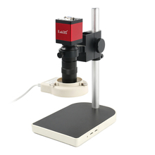 1080P 720P HDMI VGA Digital Electronic Video Microscope Camera+100X C Mount Lens+56 LED Ring Light + Table Stand For PCB Repair