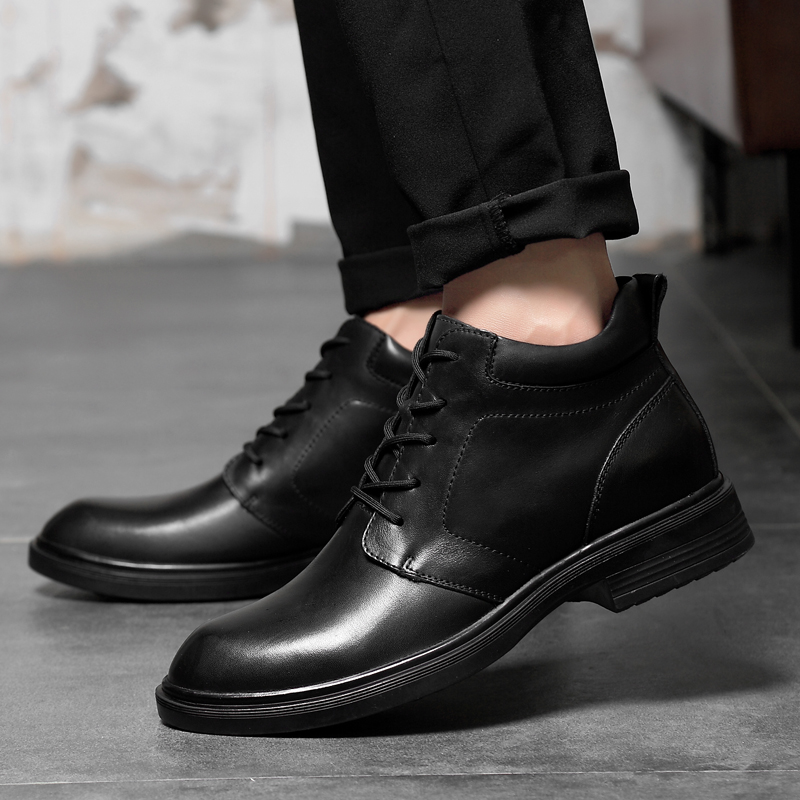 Big size36-47 Unisex Business Casual Boots Genuine Leather Men Shoes Fashion Male Shoes Winter Ankle Boots Male couples Boots