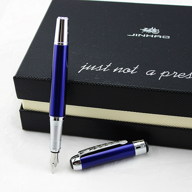 New Arrivel Jinhao 250 Luxury Dazzle Blue Fountain Pen High Quality Metal Inking Pens For Office Supplies School Supplies X450