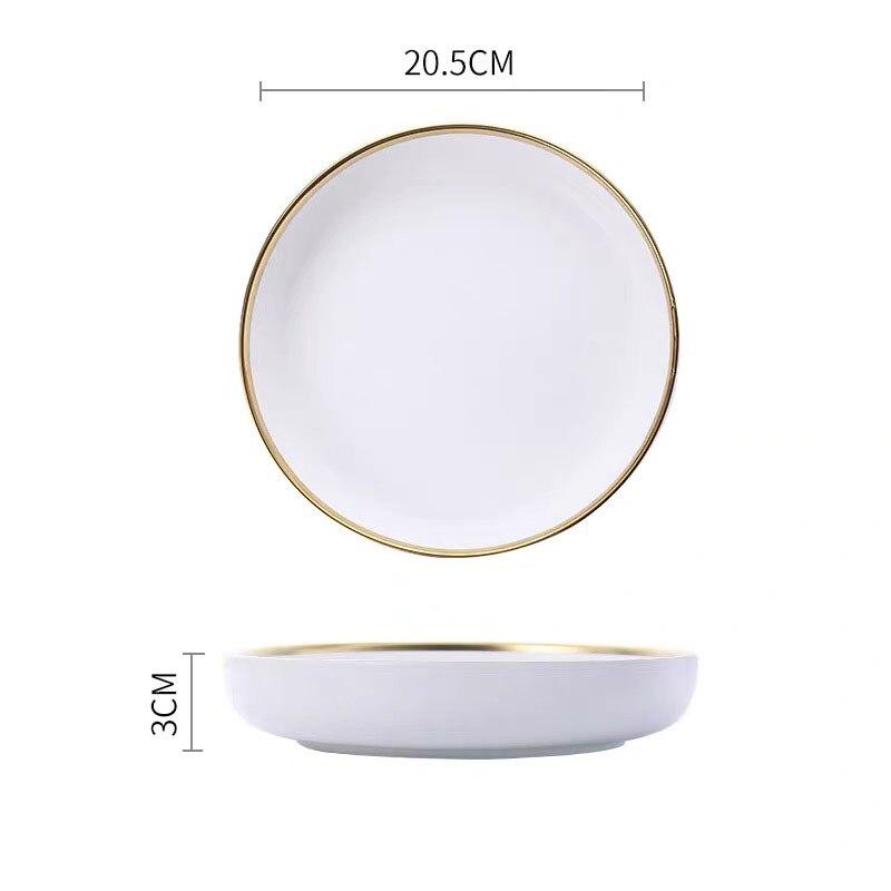 8 inch deep plate A