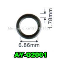 6.86*1.78mm 200 adet oto parçaları yakıt enjektör viton o ring contaları p eugeot (AY-O2001)