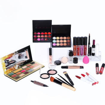POPFEEL Basic Make Up Set Cosmetics Kit KIT005(Eyeshadow Lipstick,Eyebrow,BB Cream,Face Powder,Concealer)