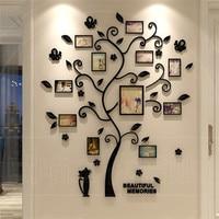 3D наклейка на дерево стикер из акрила, фотоальбом для стикеры на обои-дерево форма украшения стикер s домашний декоративный плакат на стену ...