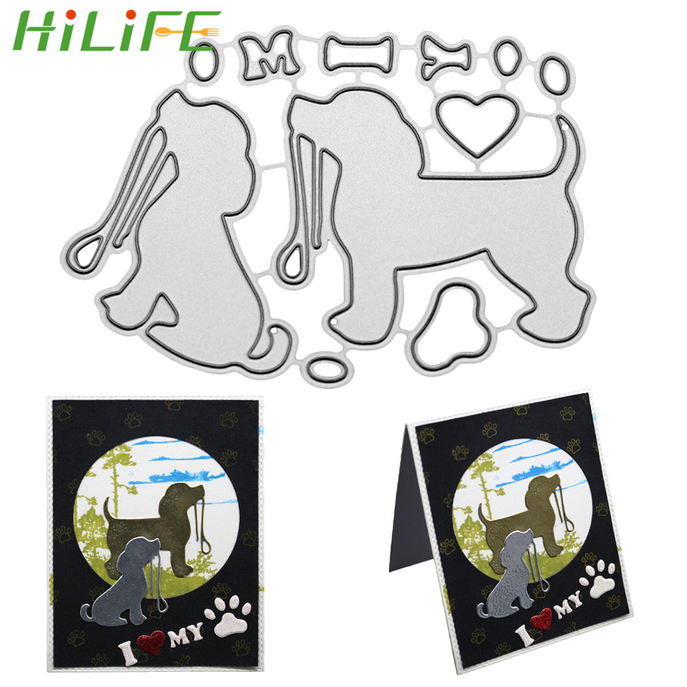 New Cute Dog Metal Cutting Dies Stencil DIY Scrapbooking Album Paper Card Crafts