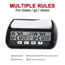 Profissional xadrez relógio digital placa de xadrez competição contagem para baixo temporizador jogo de tabuleiro cronômetro temporizador alarme eletrônico