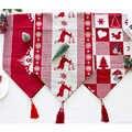 28x270cm corredores de mesa de Navidad decoración de mesa para fiesta de Navidad Decoración de mesa de bandera de Mantel largo