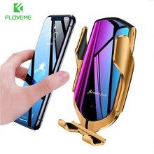 Автомобильный держатель для телефона FLOVEME Gravity, подставка для телефона, беспроводное зарядное устройство, крепление на вентиляционное отверстие, кронштейн для iPhone 12 11 XR X, поддержка телефона