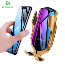 FLOVEME yerçekimi araç telefonu tutucu standı telefon kablosuz şarj hava firar çıkışı montaj dirseği iPhone 12 11 XR X telefon desteği