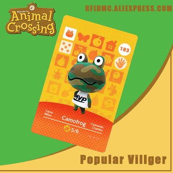 183 Camofrog Animal Crossing Card Amiibo For New Horizons