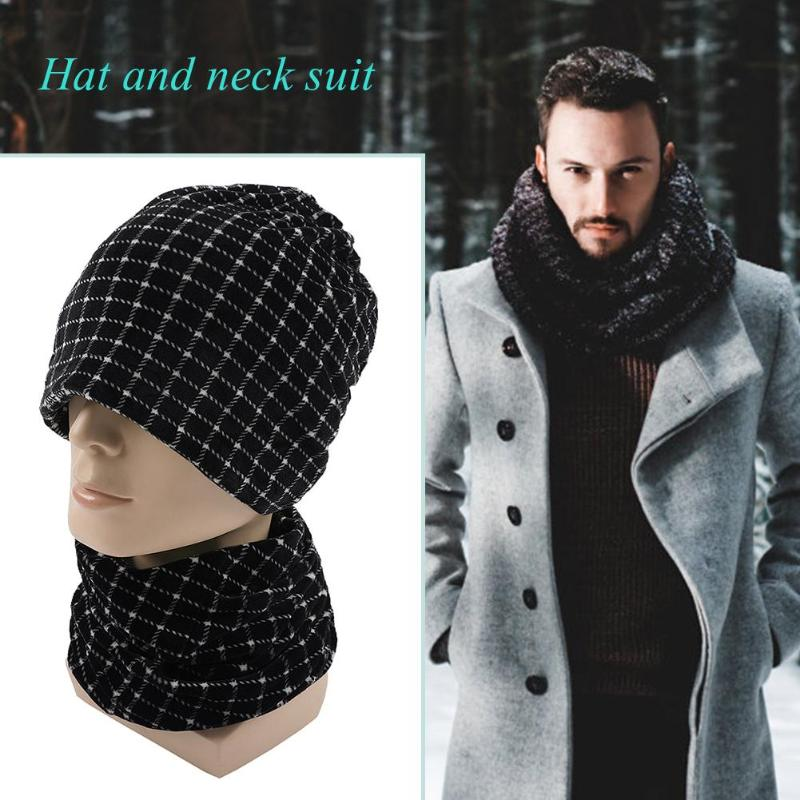 2pcs/set Fashion Autumn Winter Velvet Hat Scarf Men Women Warm Beanie Cap Fashionable Liberal Simplicity Appearance