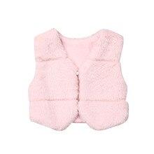 Жилеты для девочек безрукавка с искусственным мехом для детей; жилет; безрукавка с кисточками; одежда теплое зимнее пальто Верхняя одежда, куртки без рукавов Топы; одежда для малышей