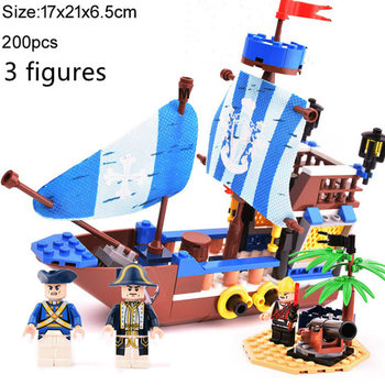 The Carib Pirate Ship Model Building Blocks Creator Boat Movie Bricks DIY Toys Birthday Christmas Gifts For Children Kids new diagoned alley fit 75978 building blocks kits bricks classic movie series model kids diy toys for children christmas gifts